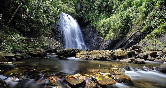 Vuadomo waterfall in Savusavu