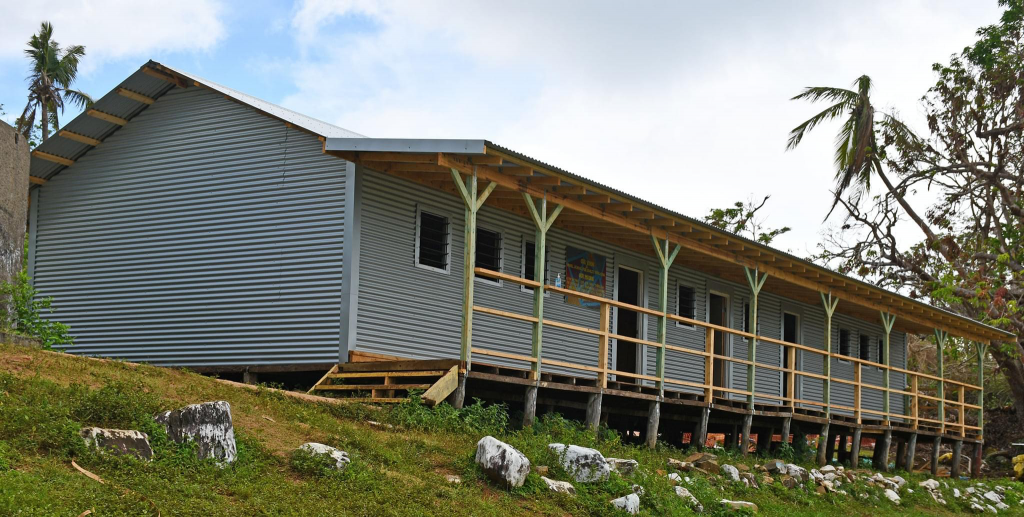 The completed Galoa Island Primary School.