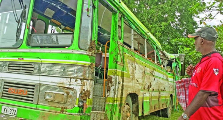 Villagers Survive Tumbled Bus Accident