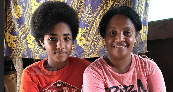 Nomai Dicagi (right) with her daughter Sulueti Vakaraucagi inside their house at Nandave Settlement in Macuata Province on January 14, 2021. Photo: Shratika Naidu