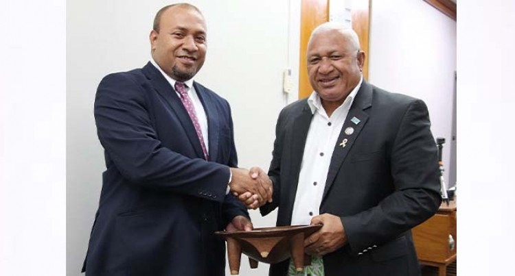 PM Bainimarama Receives Farewell Courtesy Call From High Commissioner Of Solomon Islands