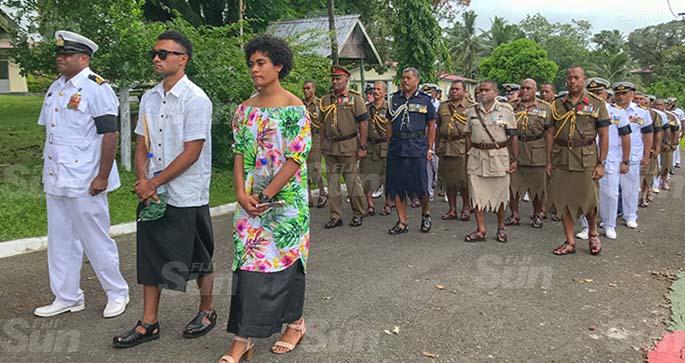 Lieutenant Commander Silipa Kubuabola's children, Ratu Manasa and Adi Ela Kubuabola. Photo: Kelera Sovasiga