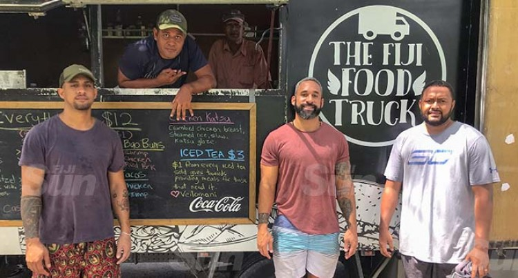 Food Truck Delivers Food To The Homeless