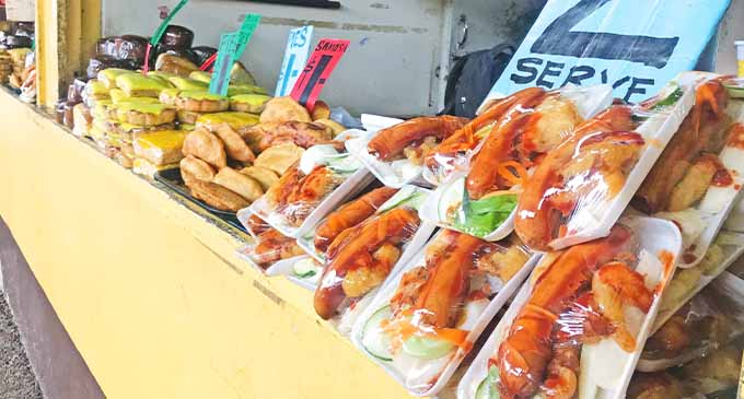 Affordable meals at the Suva Market food stalls.