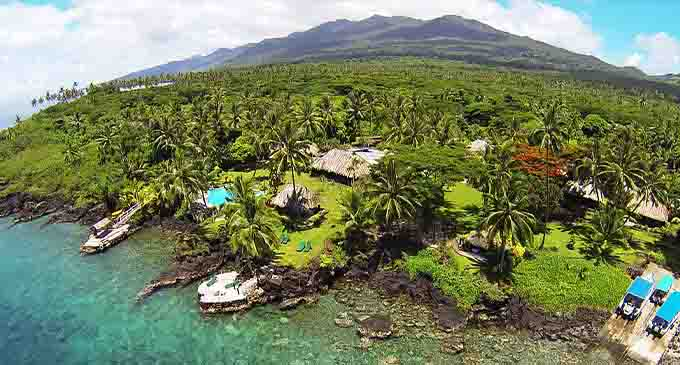 An aerial view of part of Taveuni Island.