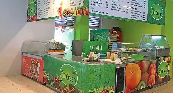 Big Green Salad Bar at the FNPF Plaza Food Court, Suva.