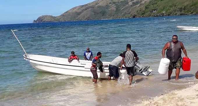 Fijian fishermen.