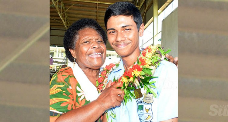 Nani Stands Proud Alongside Grandson And Head Boy Avinash