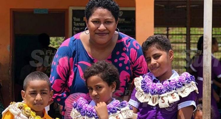 Mum Watches Three Children Badged Prefects