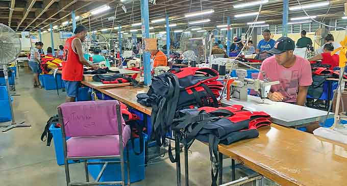 Keeping up with orders at the Performance Flotation Development Fiji factory, in Nabua.
