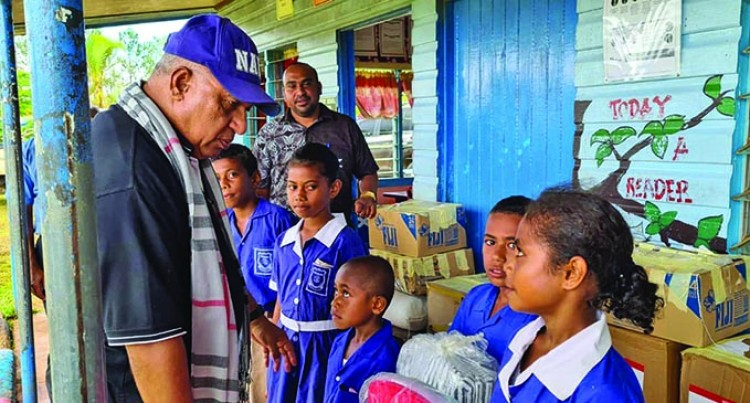 PM Bainimarama Impressed With The Attendance, Well-Dressed Students