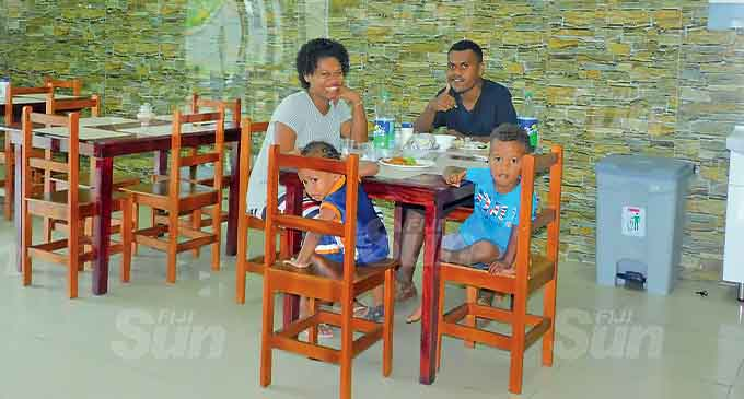 Patrons inside the Sautu Restaurant. Photo: Susana Tuilau