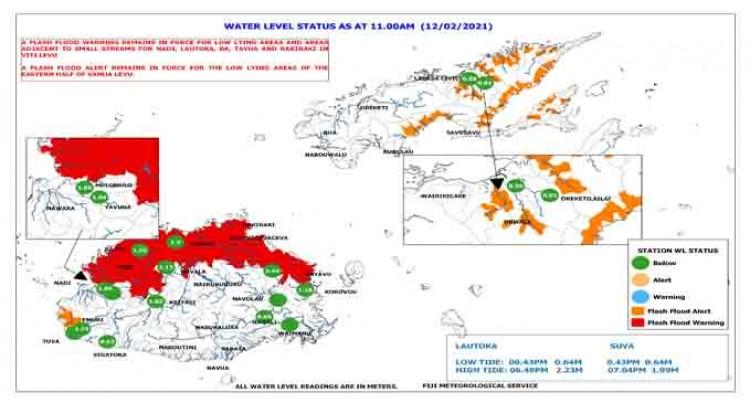 Flash Flood Warning – 11.45am February 12, 2021.