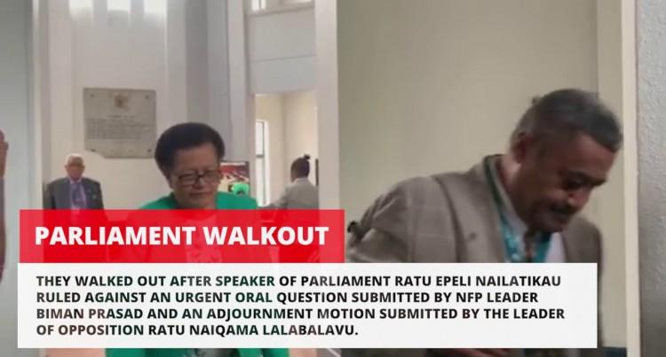 Opposition Boycott Against Speaker's Ruling