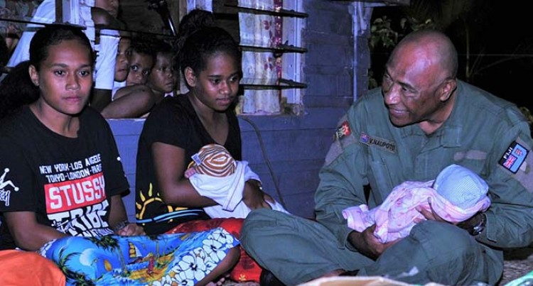 Military Commander Visits Twins In Labasa Born During Cyclone Ana