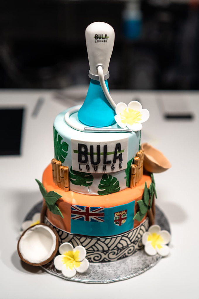 The anniversary cake at the Bula Hookah Lounge.