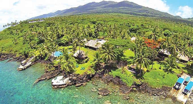 A part of the island of Taveuni.