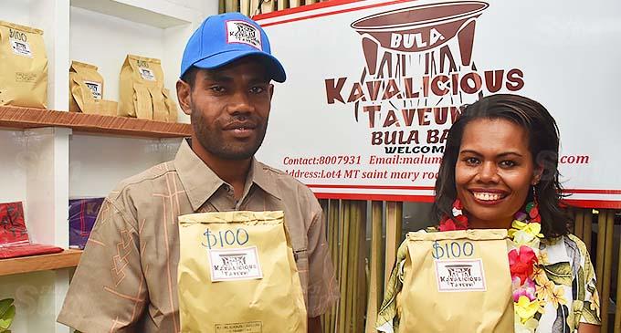 Co-owners of Martintar's Kavalicious Taveuni bar, Ana Malumuvatu and her brother, Elia Qalo, in Nadi.
