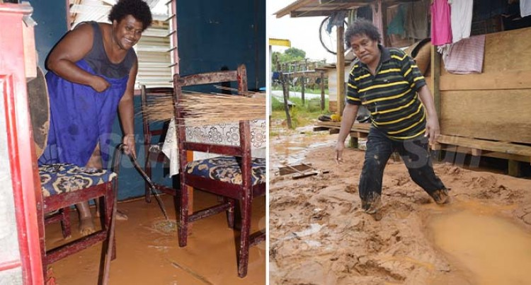 Residents Of Davuilevu, Waidamudamu Awoken To Big Clean-Up As Floodwaters Rush Through Homes