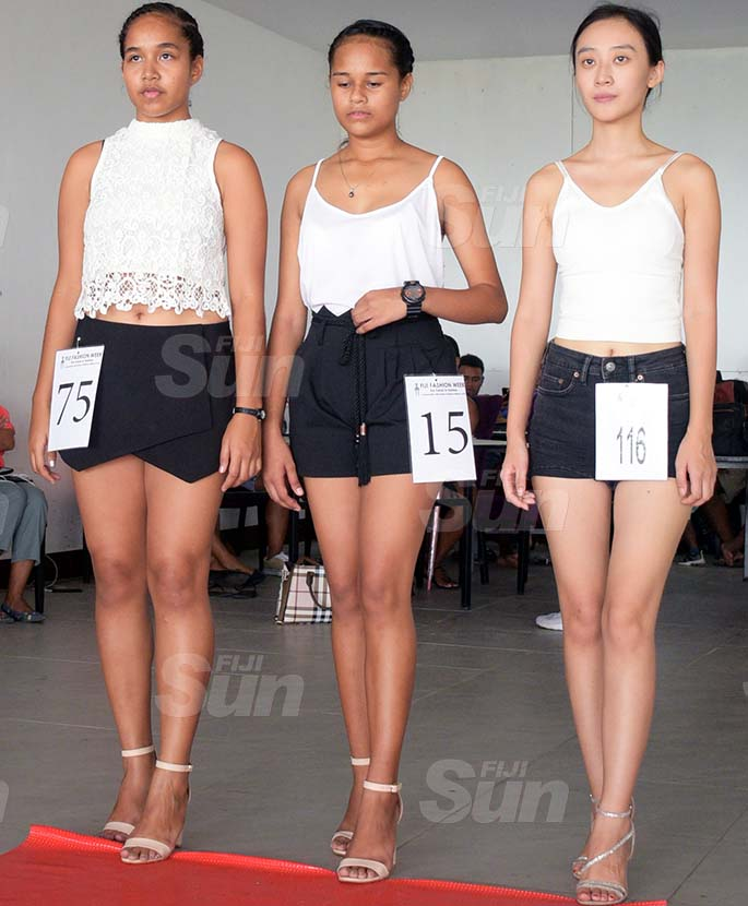 Aspiring models at Fiji Fashion Show's final auditions in Suva, on March 27, 2021. Photo: Ronald Kumar