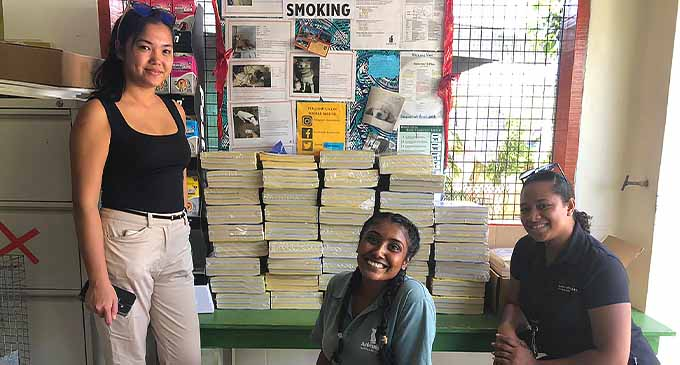 Fiji Marriott Resort Momi Bay donates recyclable paper materials to the needs of Animals Fiji shelter through the 'Solia Lesu' community programme.