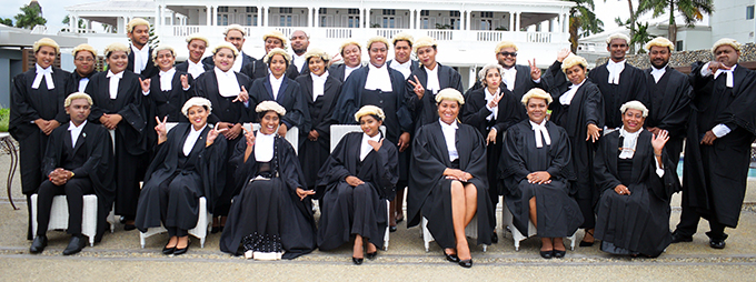 University of South Pacific law graduates following their admission into the Bar at Grand Pacific Hotel on March 12, 2021. Photo: Ronald Kumar.