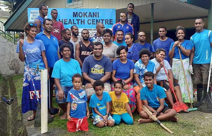 Mokani Youth Club members clean up the Mokani Health Centre on March 6, 2021. Photos: Mokani Youth Club