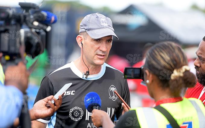 Fiji Shadow Coach Gareth Baber during Marist Sevens at ANZ Stadium on March 26, 2021. Photo: Ronald Kumar.