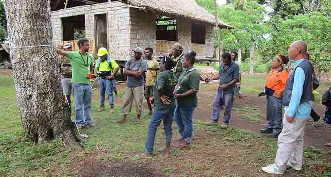 National Forest Inventory (NFI) training in the Solomon Islands, conducted at Komuniboli Village forest, Northeast Guadalcanal. Photo GIZ