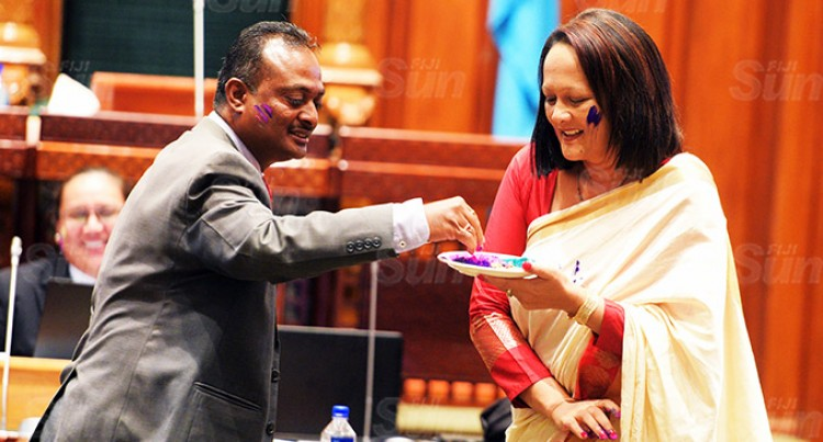 Parliament Session Ends With The Colors Of Holi