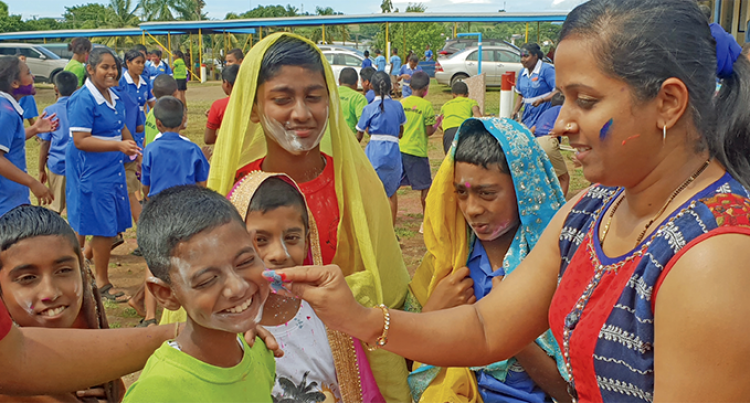 Holi For 800 Plus Students At Lautoka School