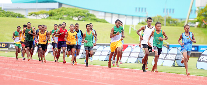 Suva Zone 1 3000meters final action at ANZ Stadium on March 16, 2021. Photo: Ronald Kumar.