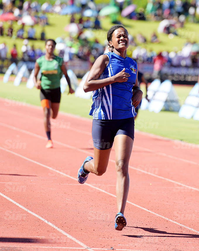 Niumai Mavida of Nasinu Secondary won the senior girls 200mters Zone 1 final at ANZ Stadium on March 17, 2021. Photo: Ronald Kumar.