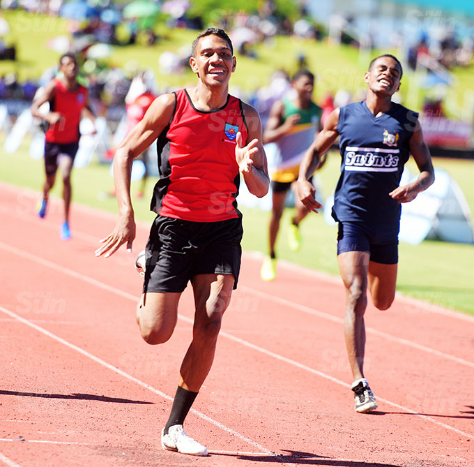 Mosese Sivo Sacred Heart College won the inter-bpys 400meters Zone 1 final at ANZ Stadium on March 17, 2021. Photo: Ronald Kumar.
