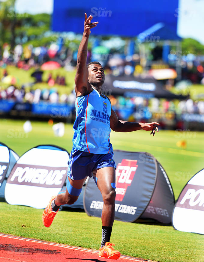 Pio Rauwa of Namosi Secondary won the senior boys 800meters senior boys zone 1 final at ANZ Stadium on March 17, 2021. Photo: Ronald Kumar.