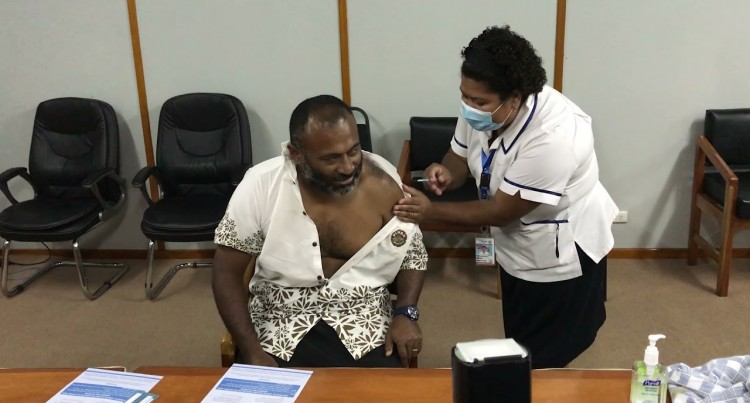 MOH Leadership Receive Their Vaccines