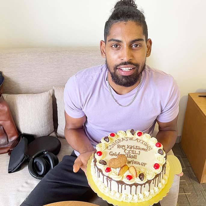 Fijian football sensation Roy Krishna in Nadi on March 24, 2021.