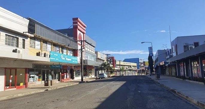 Empty streets of Nadi Town this morning. Photo: Waisea Nasokia