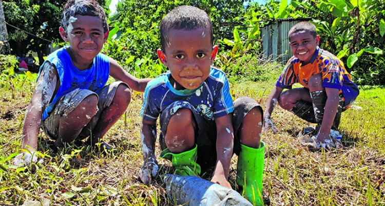 6-Year-Old Rusiate Jitoko Leads Saru Village Clean Up