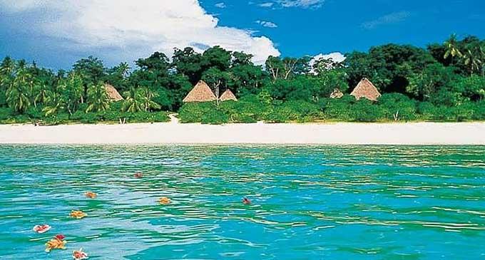 Beach at Vatulele island.