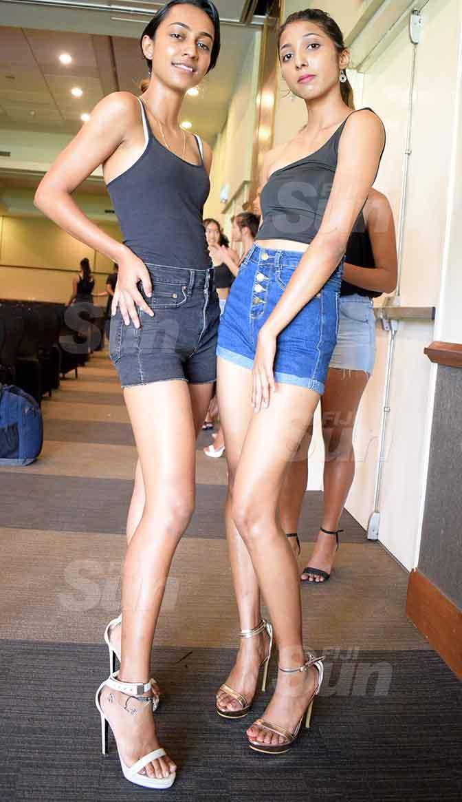Rani Chandra (left) and Kavita Mishra during fashion audition at Grand Pacific Hotel on April 3, 2021. Photo: Ronald Kumar.