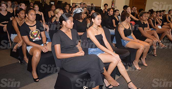 Models during during fashion audition at Grand Pacific Hotel on April 3, 2021. Photo: Ronald Kumar.