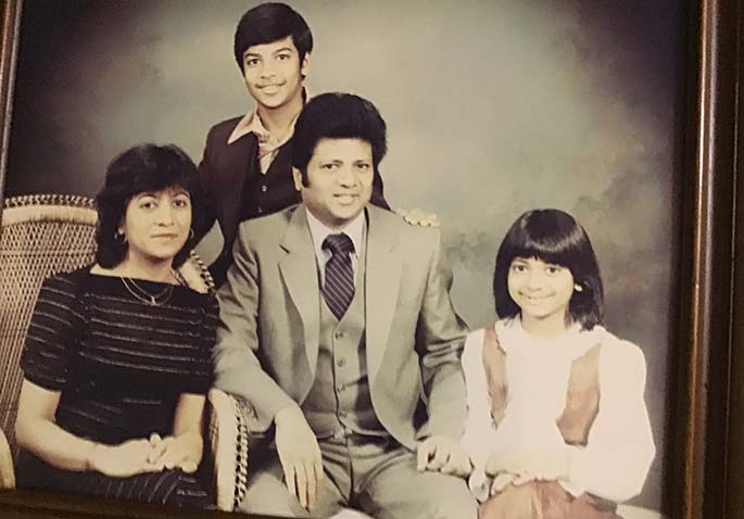 The Prasad family in earlier days.