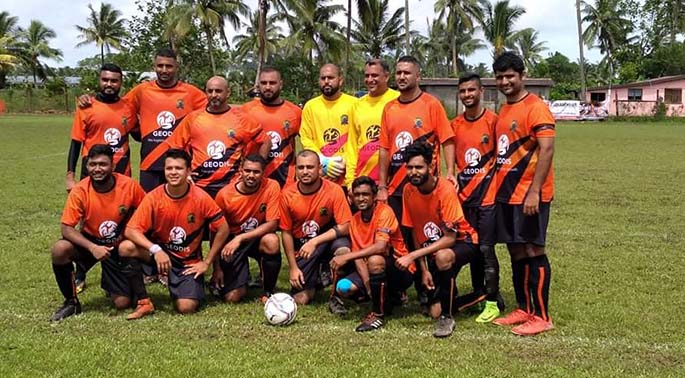 Lami Gujarati Sports Club team at Cakobau Park during the 2021 Fiji Gujarati Sports Association's Interdistrict Competition (IDC) held last weekend. Photo: Supplied