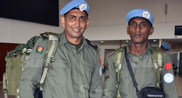 Taoi, Naicker Ready To Serve In Golan Heights