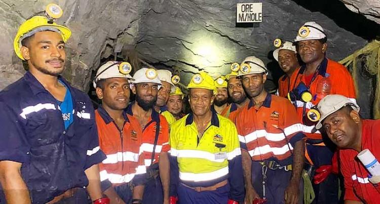 Minister Jone Usamate Visits Gold Mine