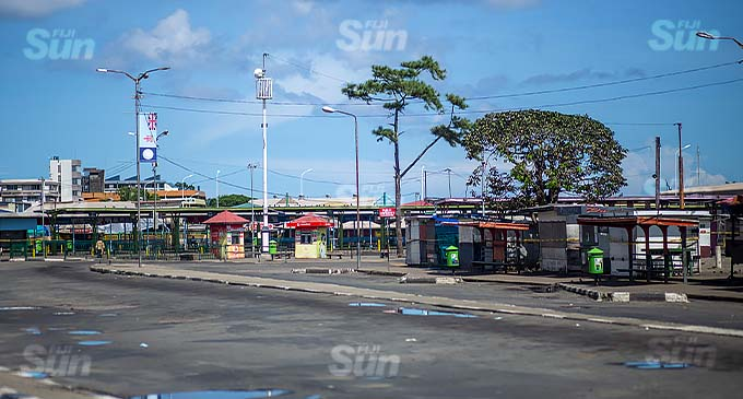 Suva Bus Stand on April 25, 2021. Photo: Leon Lord.