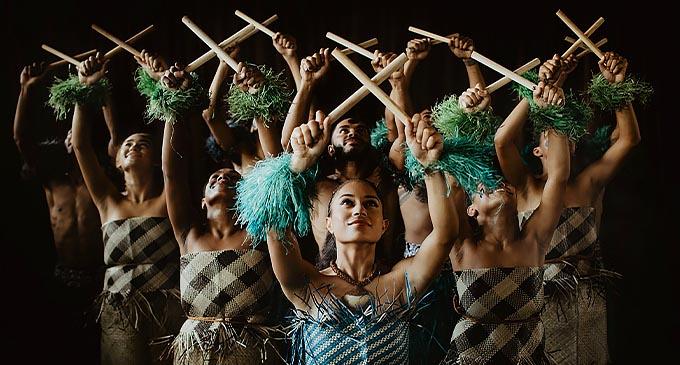 VOU dancers performing at the VOU Hub Center near Denarau in Nadi.