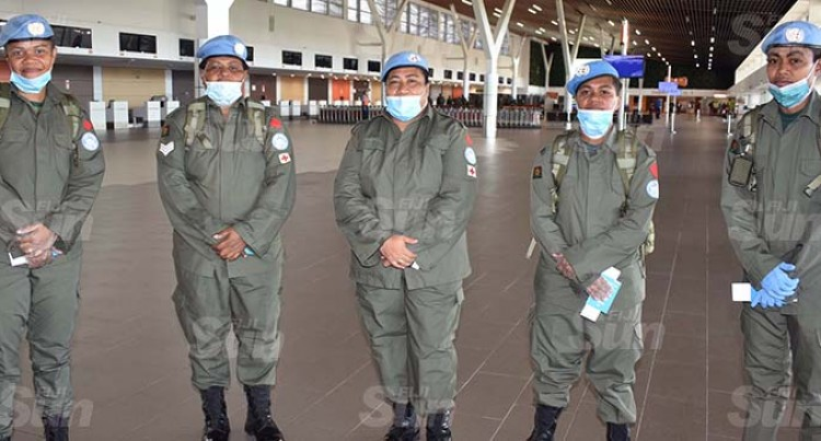 Departing Peacekeepers Ready To Serve In Golan Heights