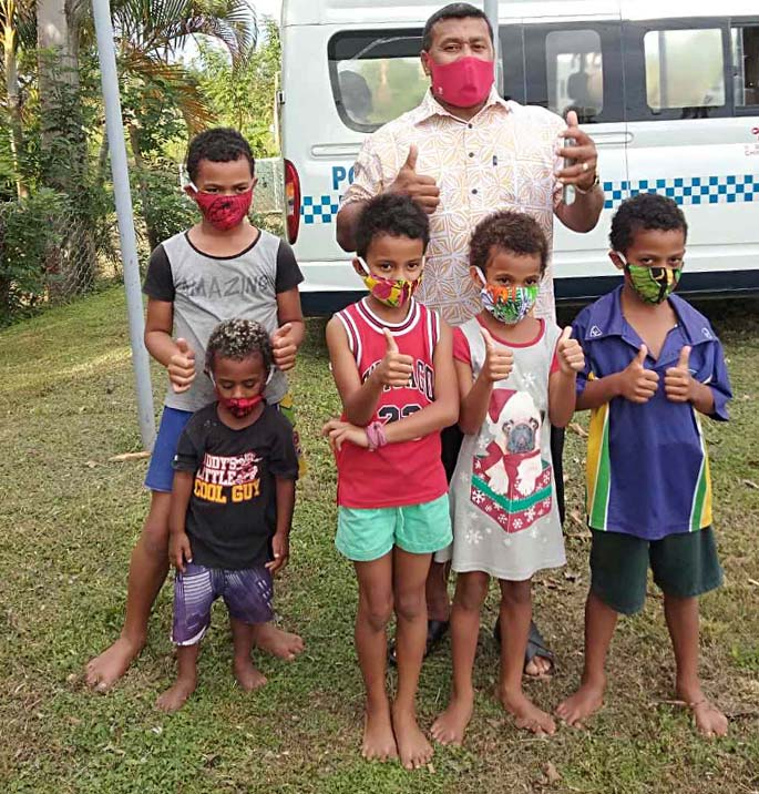 Former 7s rugby hero Waisale Serevi after conducting an awareness campaign earlier this week. Photo: Police Media Cell